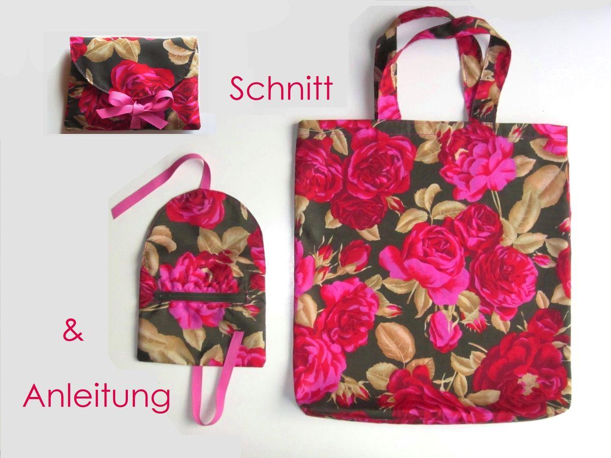 Produktfoto von Lunicum für Schnittmuster Einkaufstasche + Schleifenhülle