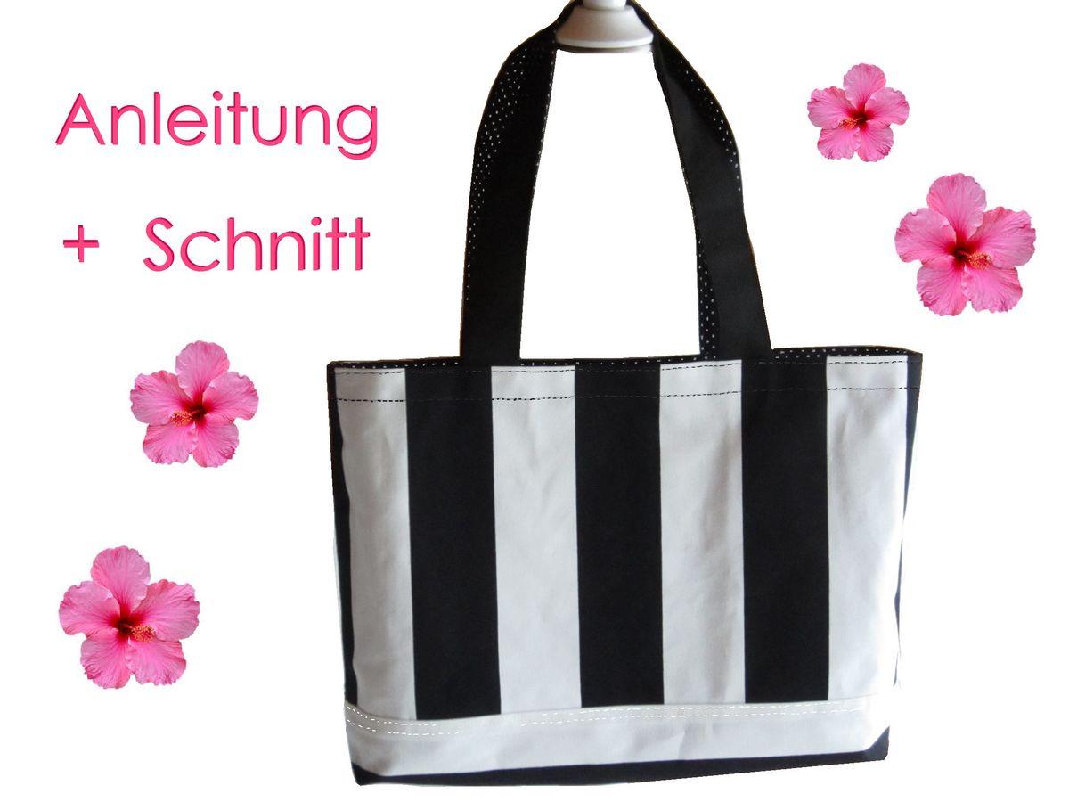 Produktfoto von Lunicum für Schnittmuster Shopper oder Strandtasche