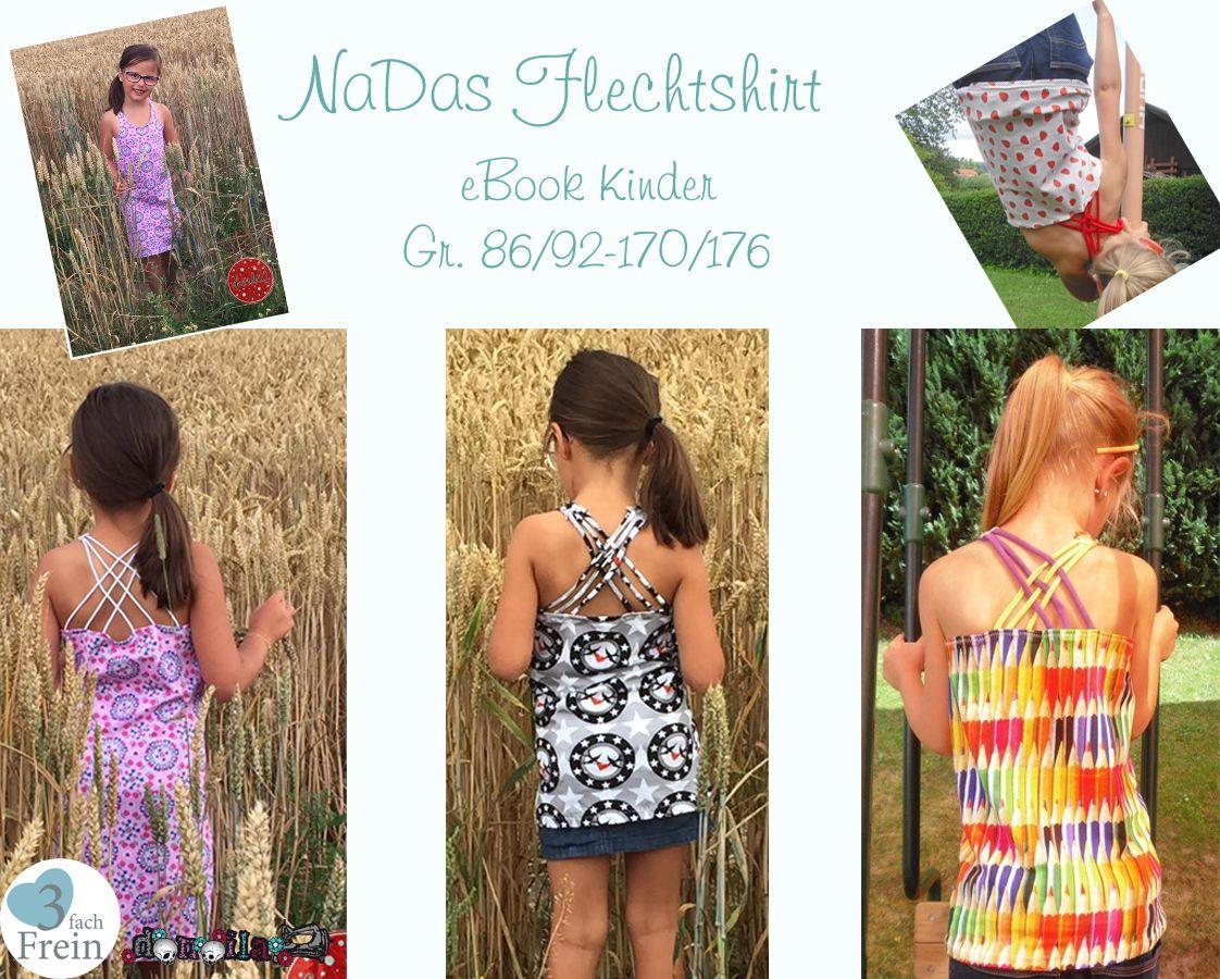 Produktfoto von 3fachFrein für Schnittmuster NaDas Flechtshirt Kinder