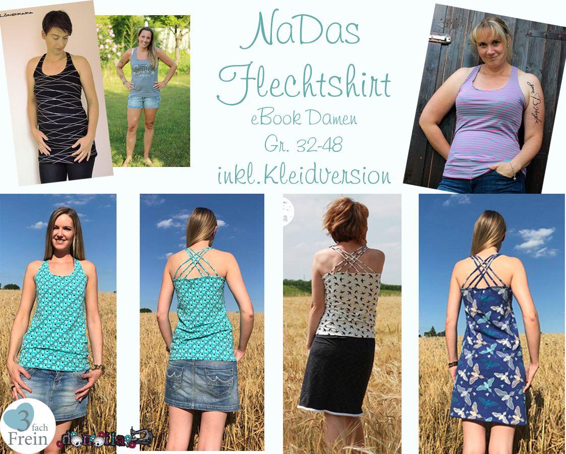 Produktfoto von 3fachFrein für Schnittmuster NaDas Flechtshirt Damen