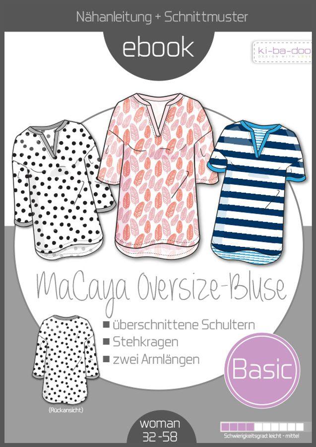 Produktfoto von ki-ba-doo für Schnittmuster Oversize-Bluse MaCaya