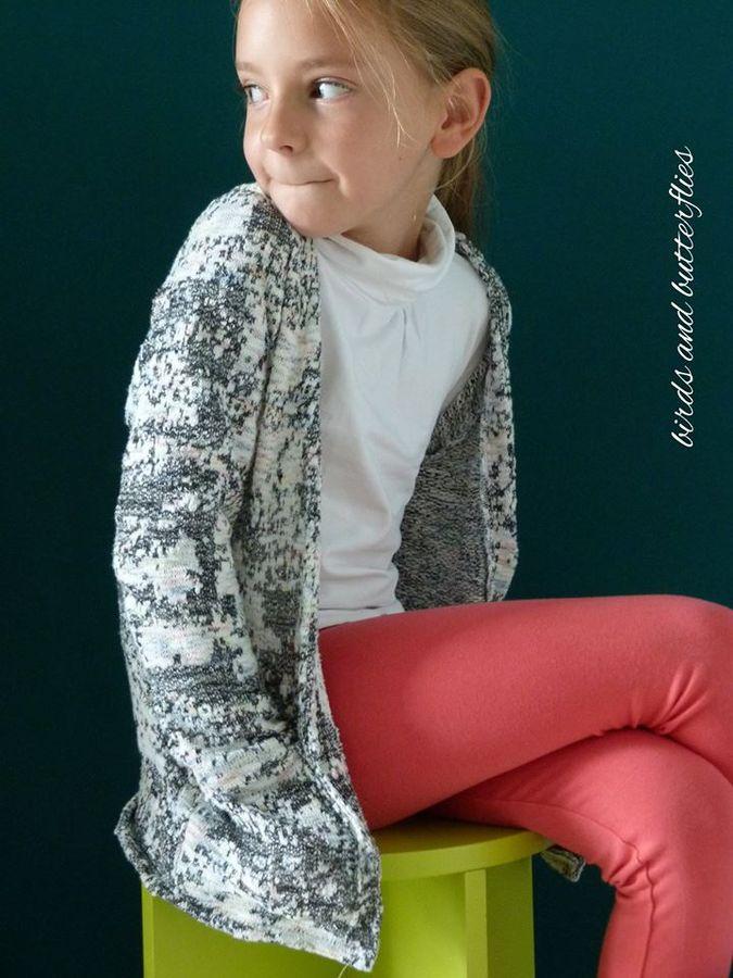 Produktfoto von textilsucht für Schnittmuster Cardigan Lani Kinder