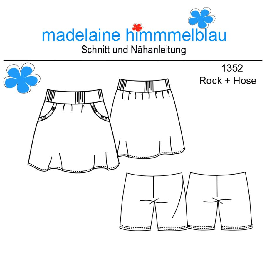 Produktfoto von madelaine himmmelblau für Schnittmuster 1352 Rock + Hose