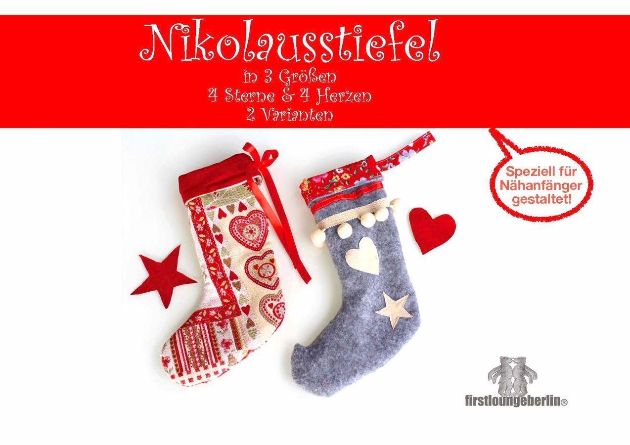 Produktfoto von Firstlounge Berlin für Schnittmuster Nikolausstiefel