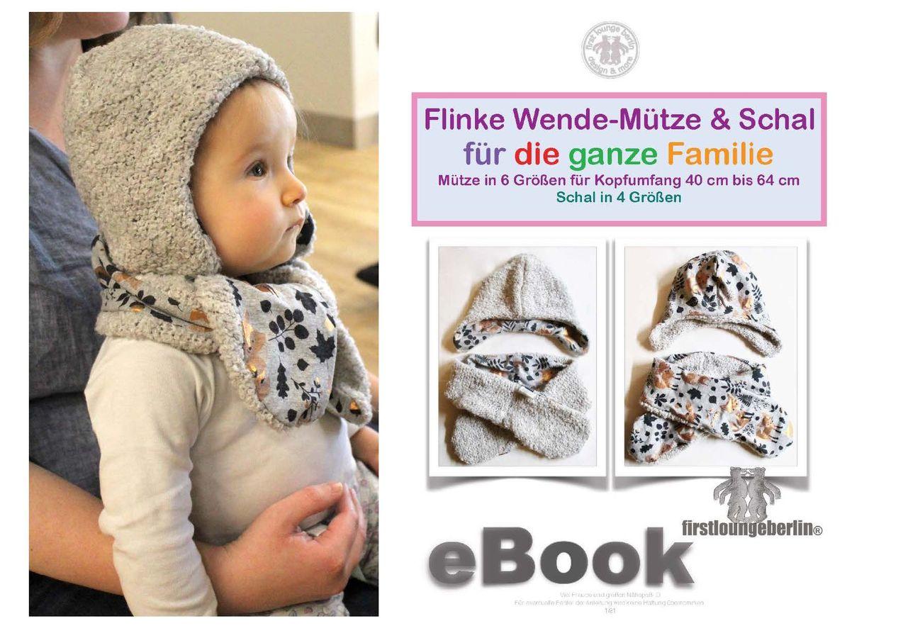 Produktfoto von Firstlounge Berlin für Schnittmuster Flinke Wendemütze & Schal
