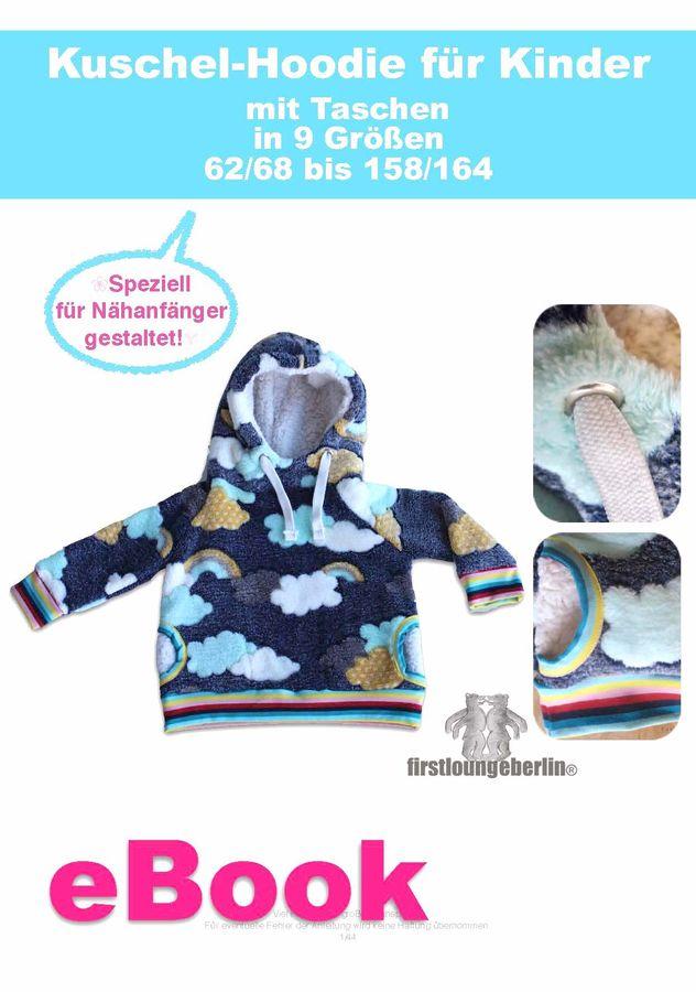 Produktfoto von Firstlounge Berlin für Schnittmuster Kuschel-Hoodie für Kinder