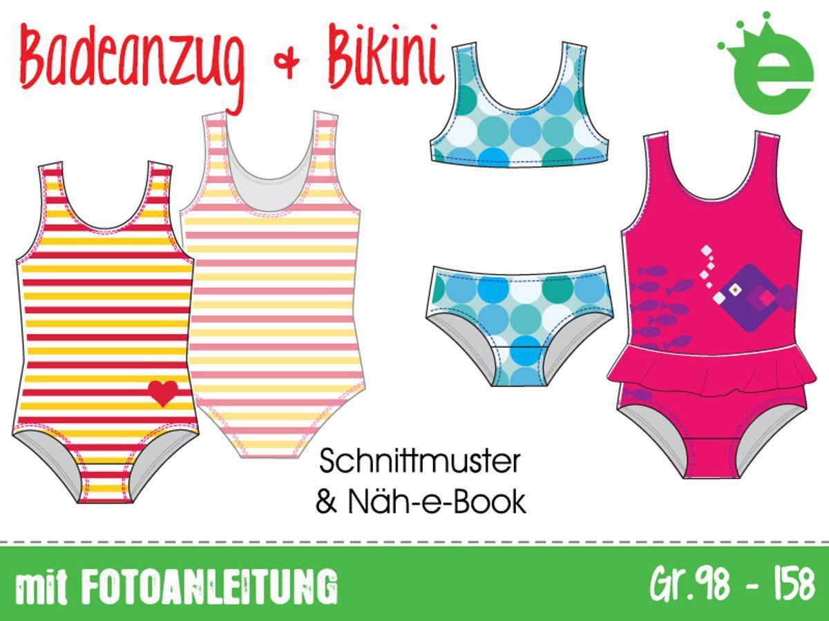 Beste Badeanzug Schnittmuster Galerie - Strickmuster-Ideen ...