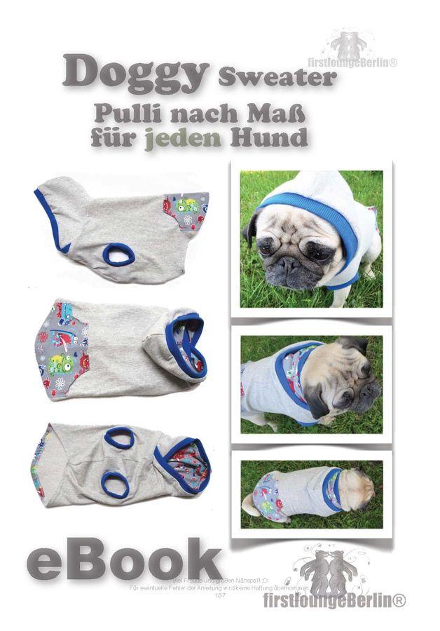 Produktfoto von Firstlounge Berlin für Schnittmuster Doggy Hundesweater