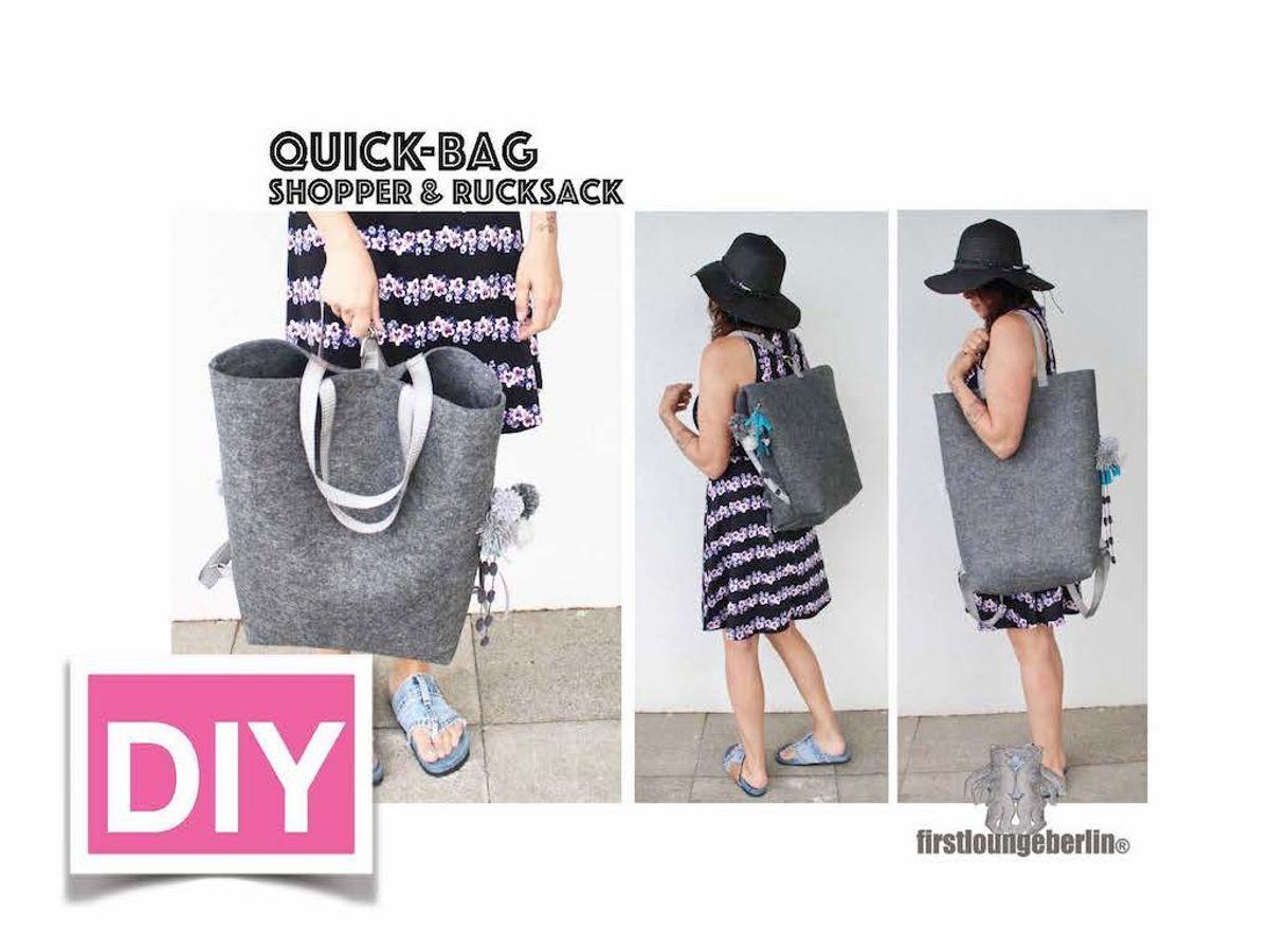 Produktfoto von Firstlounge Berlin für Schnittmuster Quick-Bag