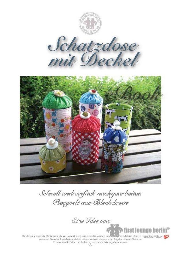 Produktfoto von Firstlounge Berlin für Schnittmuster Schatzdose mit Deckel