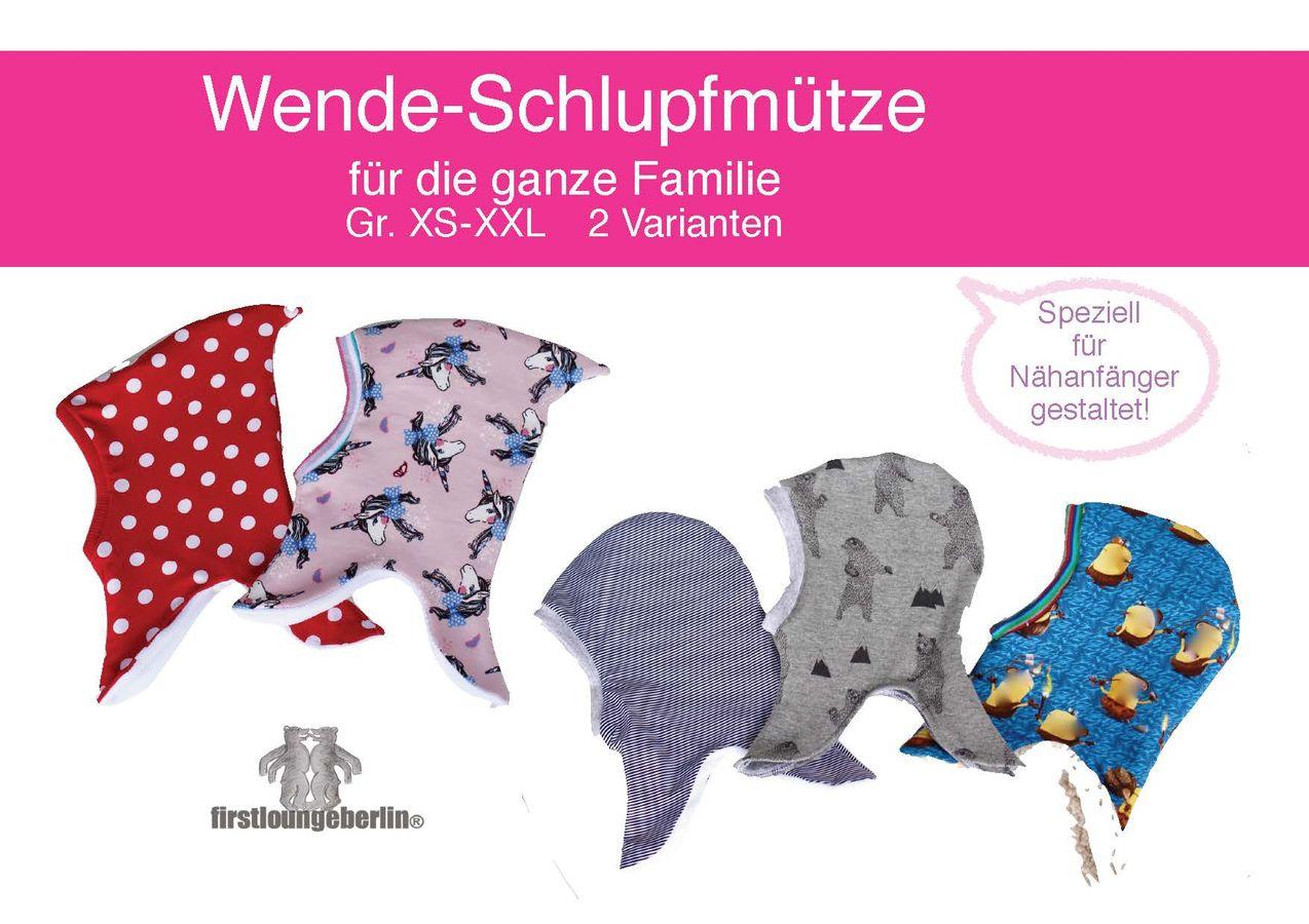 Produktfoto von Firstlounge Berlin für Schnittmuster Wende-Schlupfmütze