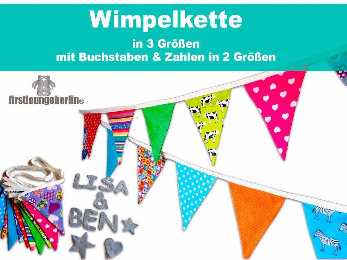 Produktfoto von Firstlounge Berlin für Schnittmuster Wimpelkette