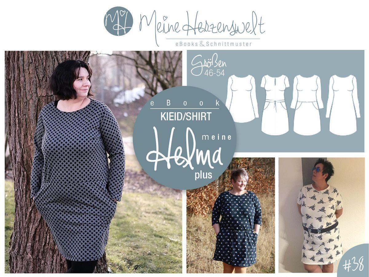 Produktfoto von Meine Herzenswelt für Schnittmuster Kleid/Shirt Meine Helma plus