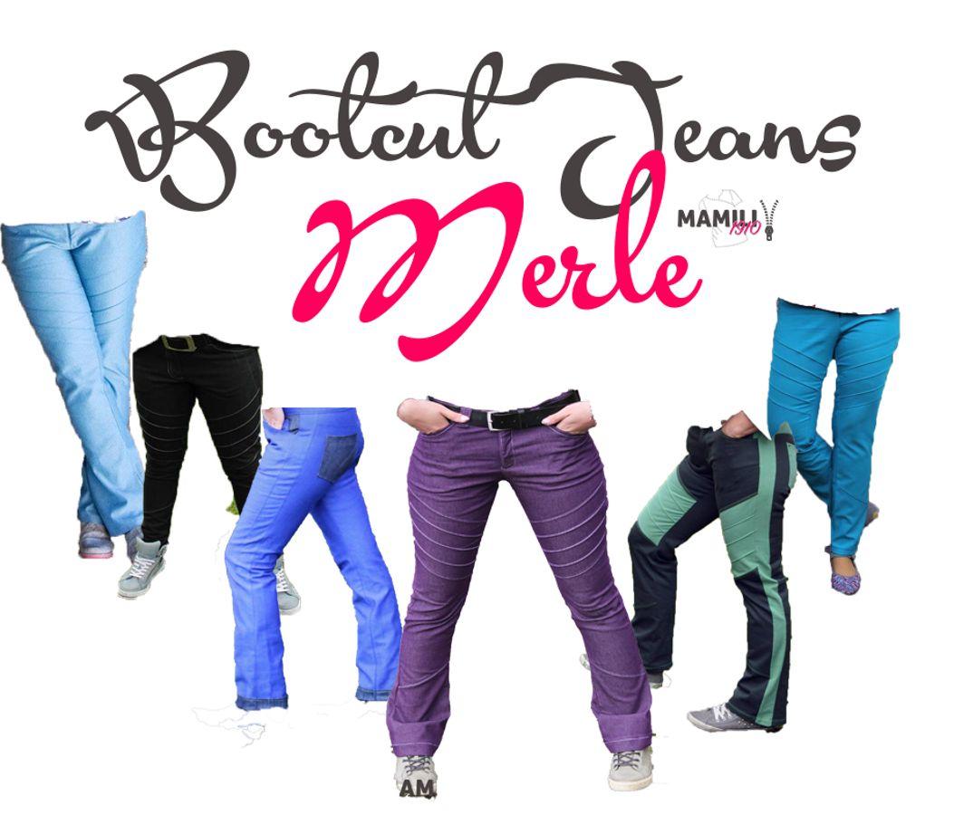 Produktfoto von Mamili1910 für Schnittmuster Bootcut Jeans Merle