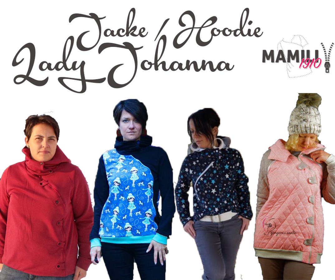 Produktfoto von Mamili1910 für Schnittmuster Jacke/Hoodie Lady Johanna