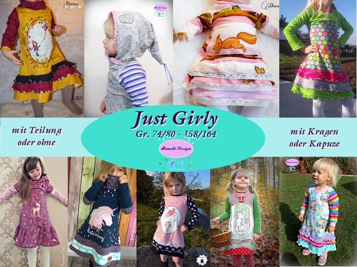 Produktfoto von Mamilu Design für Schnittmuster Just Girly Rüschenkleid