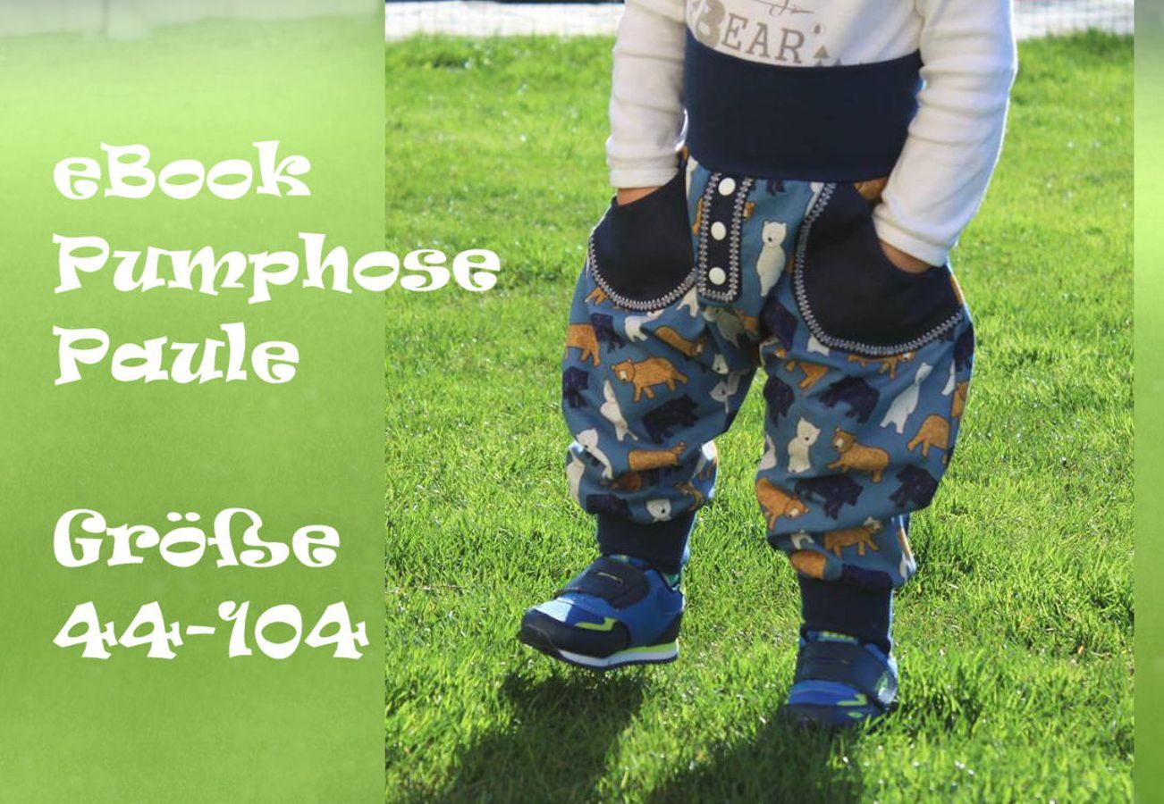 Produktfoto von Bunte Nähigkeiten für Schnittmuster Pumphose Paule