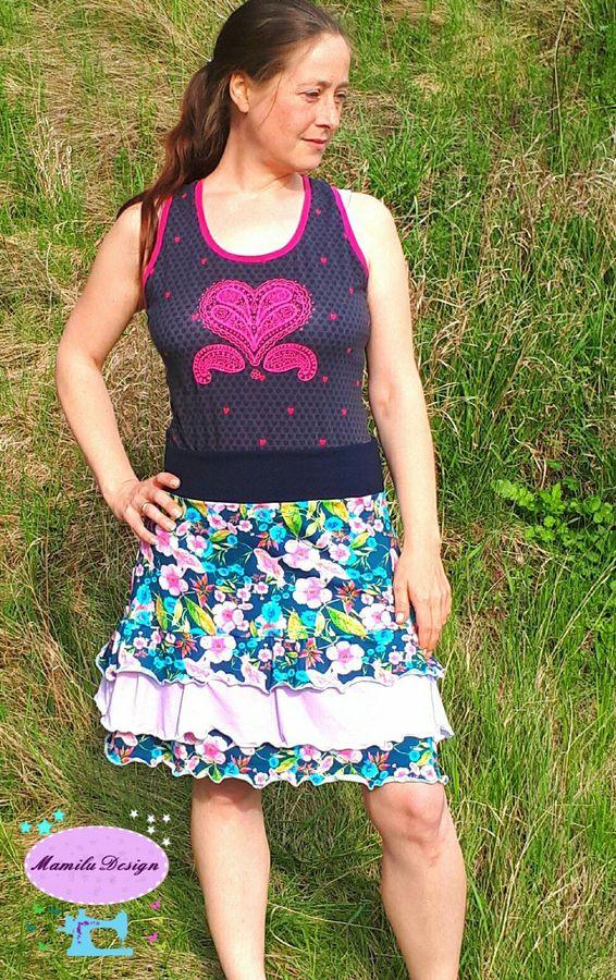 Produktfoto von Mamilu Design für Schnittmuster Stufenrock Rocking Lady