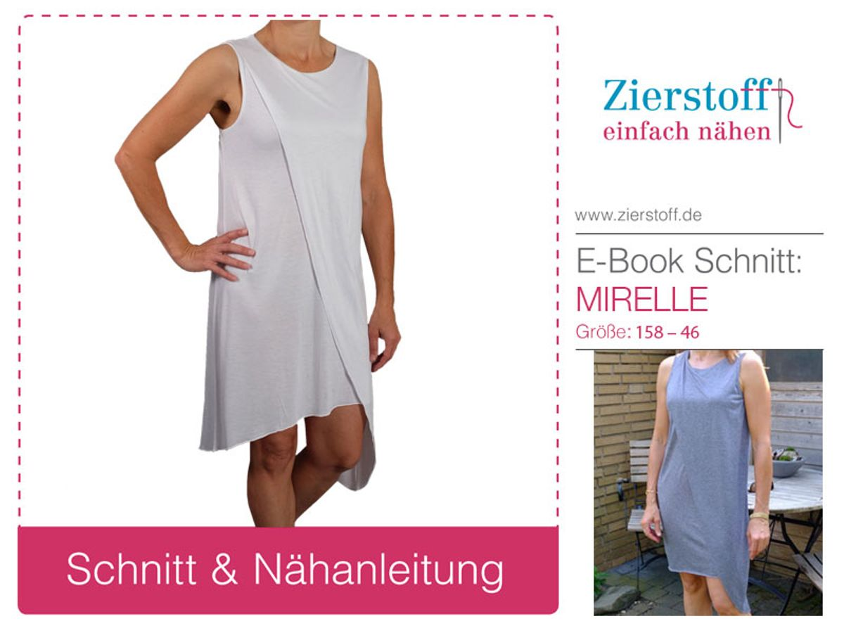 Produktfoto von Zierstoff für Schnittmuster Kleid Mirelle 158-46