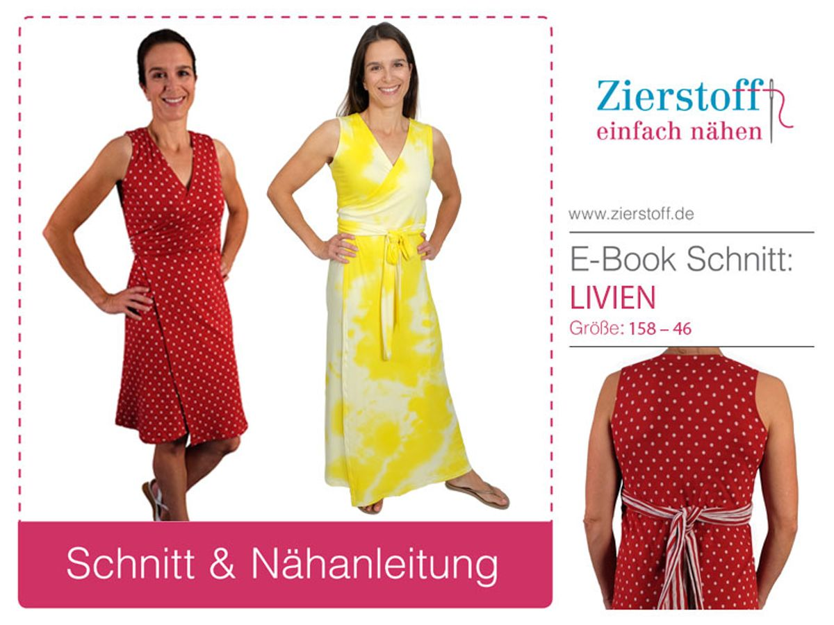 Produktfoto von Zierstoff für Schnittmuster Wickelkleid Livien 158-46