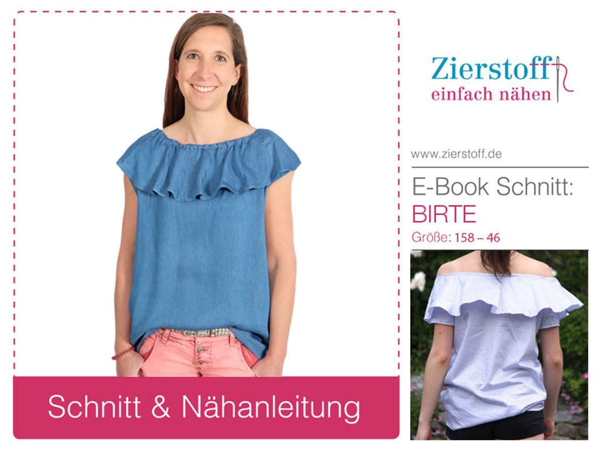 Produktfoto von Zierstoff für Schnittmuster Bluse Birte 158-46