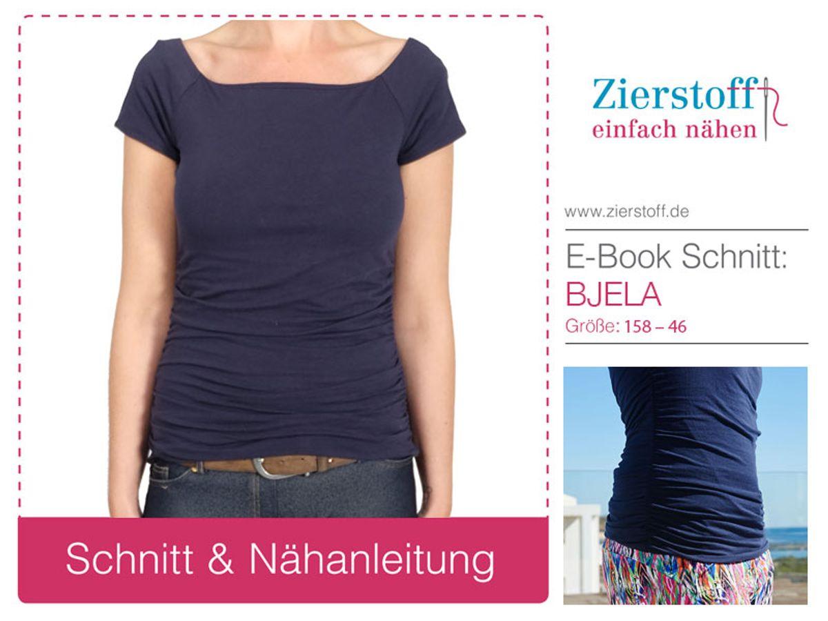 Produktfoto von Zierstoff für Schnittmuster Shirt Bjela 158-46