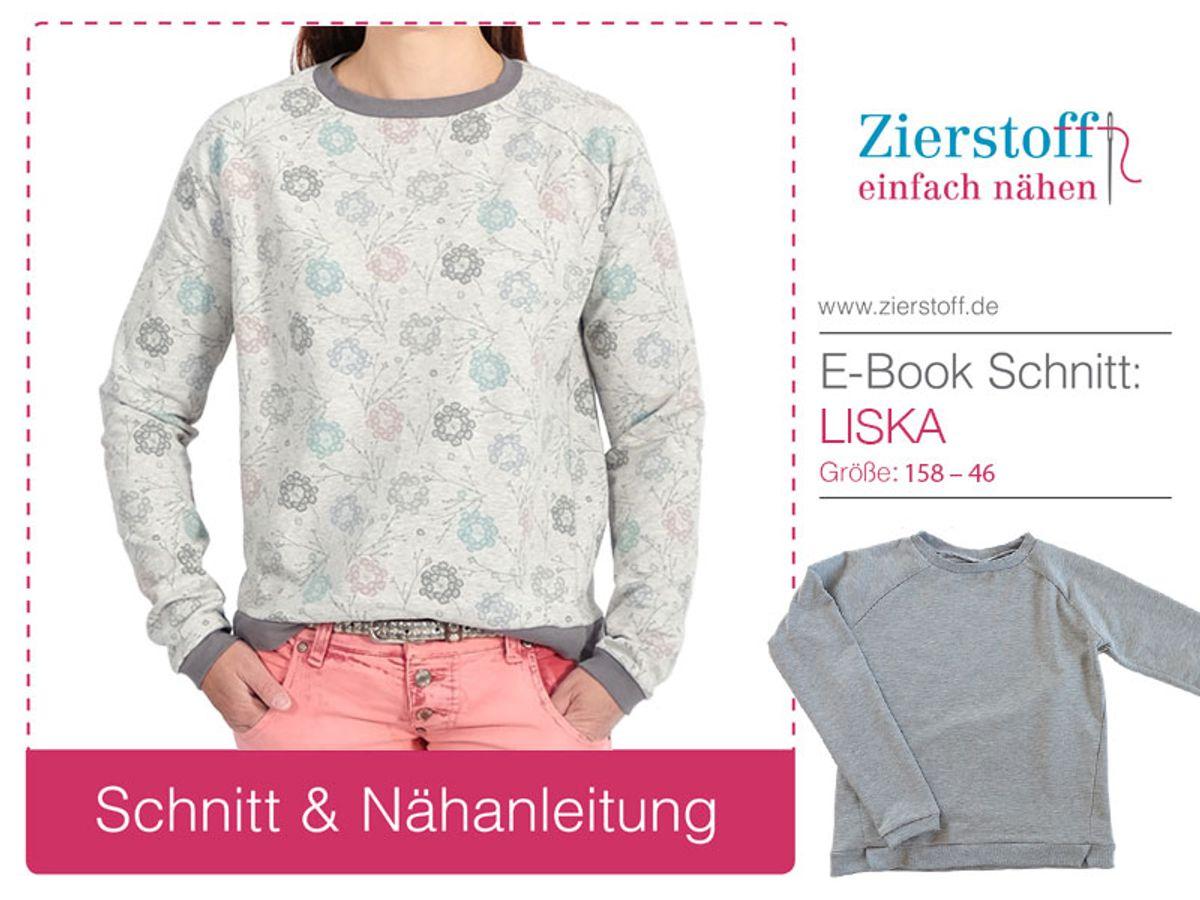 Produktfoto von Zierstoff für Schnittmuster Sweatshirt Liska 158-46