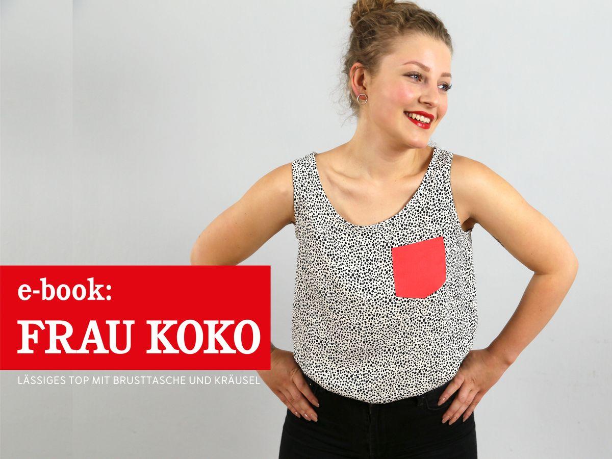 Produktfoto von schnittreif für Schnittmuster Frau Koko