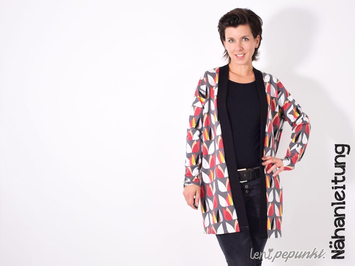Produktfoto von Leni Pepunkt für Schnittmuster CARDIGAN.Jacke