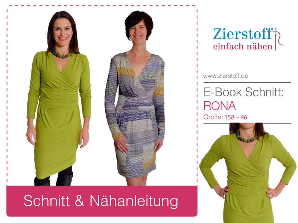 Produktfoto von Zierstoff für Schnittmuster Kleid Rona 158-46