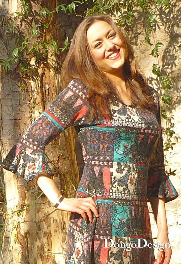 Produktfoto von DongoDesign für Schnittmuster Jerseykleid Volantarm