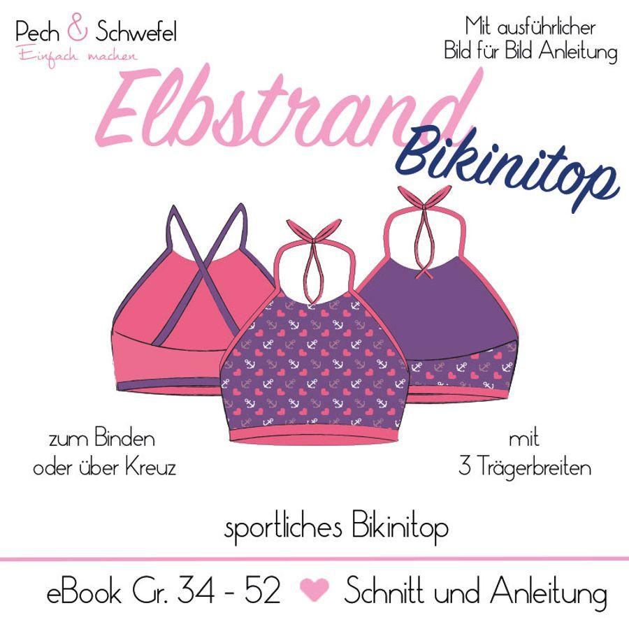 Produktfoto von Pech & Schwefel für Schnittmuster Elbstrand Bikinitop
