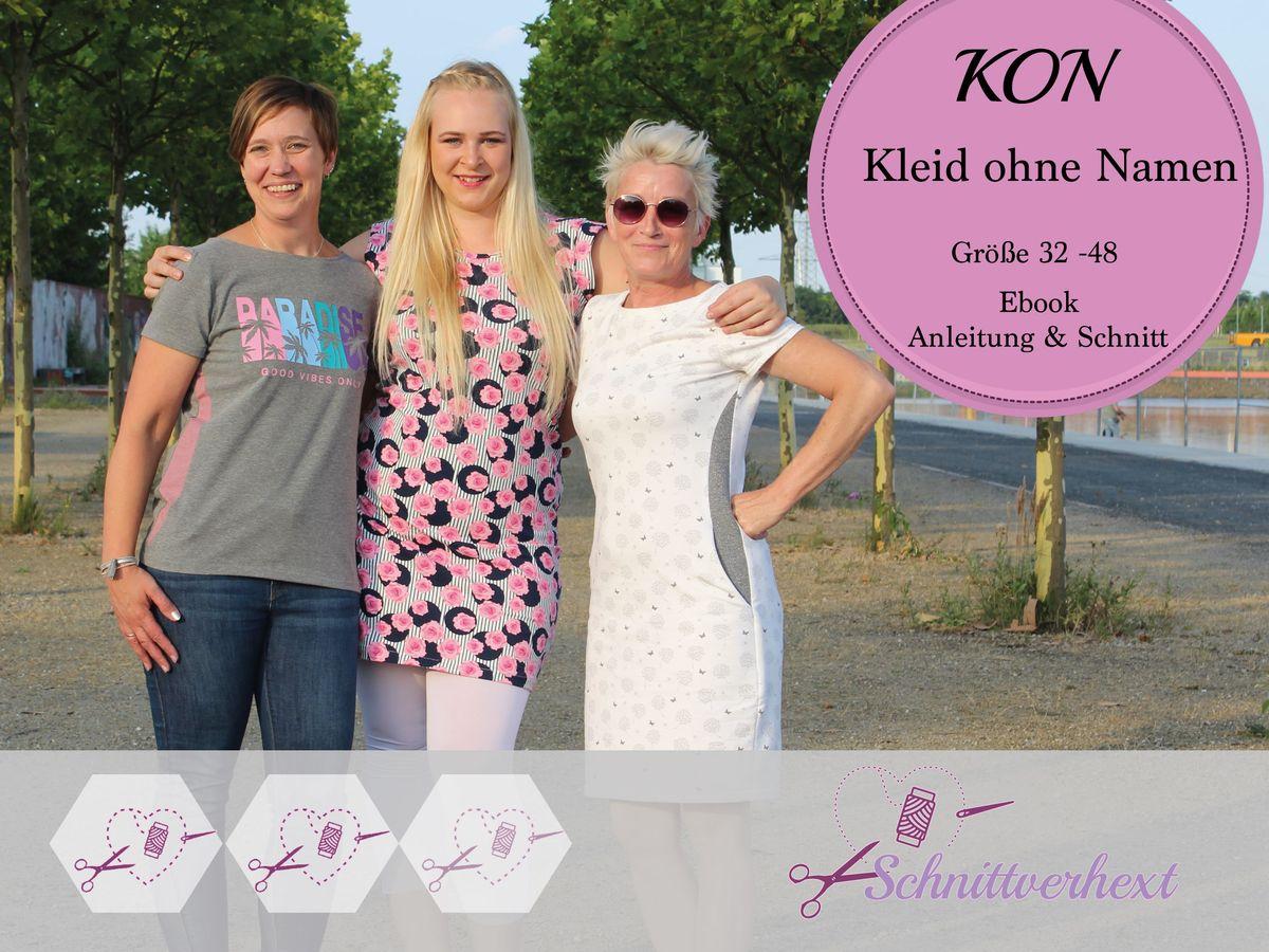 Produktfoto von Schnittverhext für Schnittmuster KON - Kleid ohne Namen