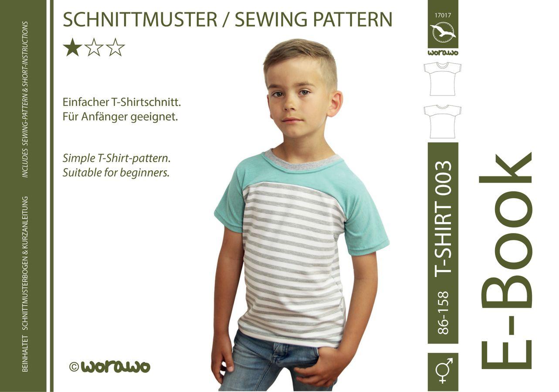 Produktfoto von worawo für Schnittmuster T-Shirt Kinder 003