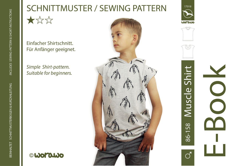 Produktfoto von worawo für Schnittmuster Muscle Shirt Kinder