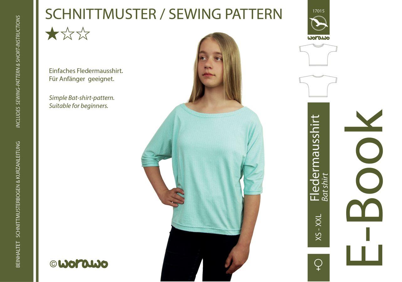 Produktfoto von worawo für Schnittmuster Fledermausshirt Damen
