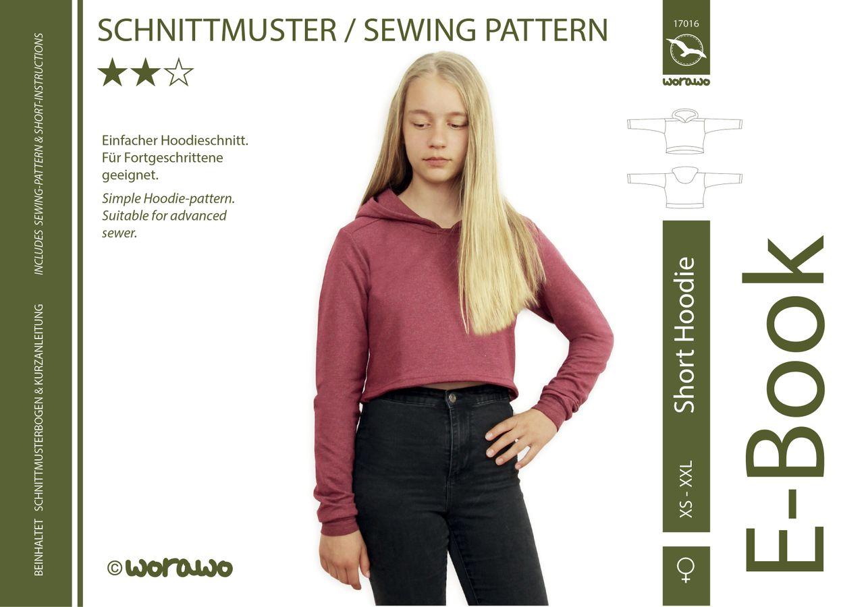 Produktfoto von worawo für Schnittmuster Short Hoodie Damen