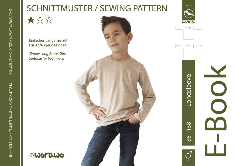 Produktfoto von worawo für Schnittmuster Longsleeve Kinder