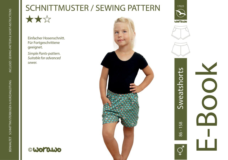 Produktfoto von worawo für Schnittmuster Sweatshorts Kinder