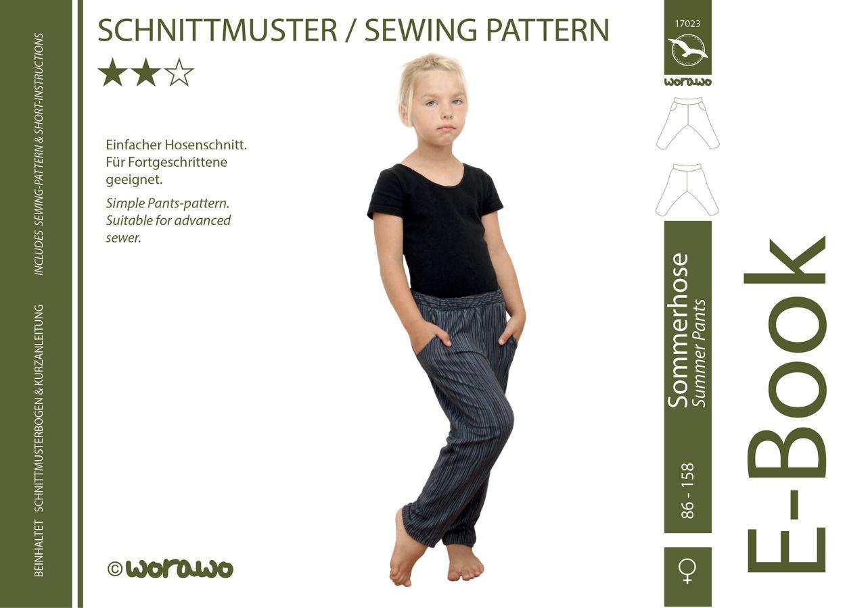 Produktfoto von worawo für Schnittmuster Sommerhose Kinder