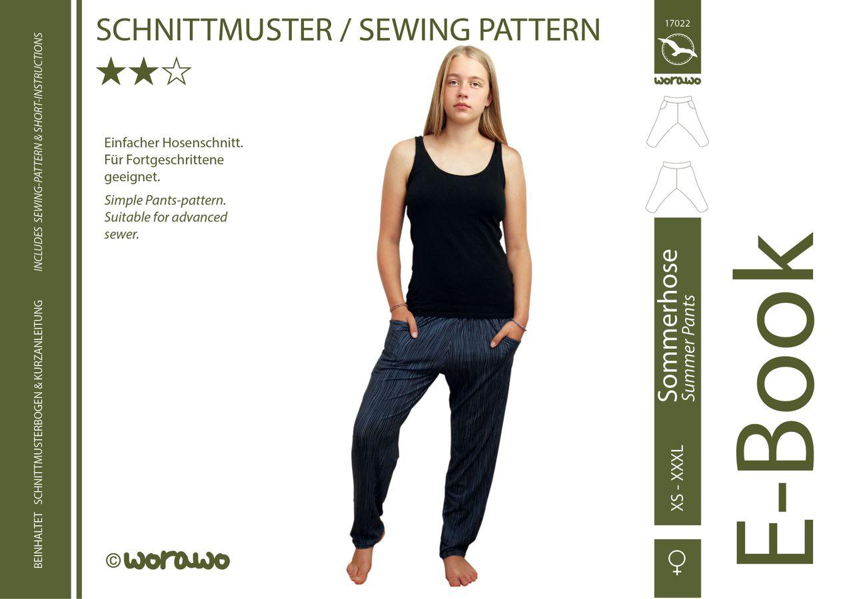 Produktfoto von worawo für Schnittmuster Sommerhose Damen