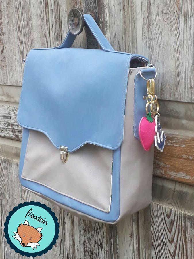 Produktfoto von LaLilly Herzileien für Schnittmuster Vintage Schoolbag Leonabel