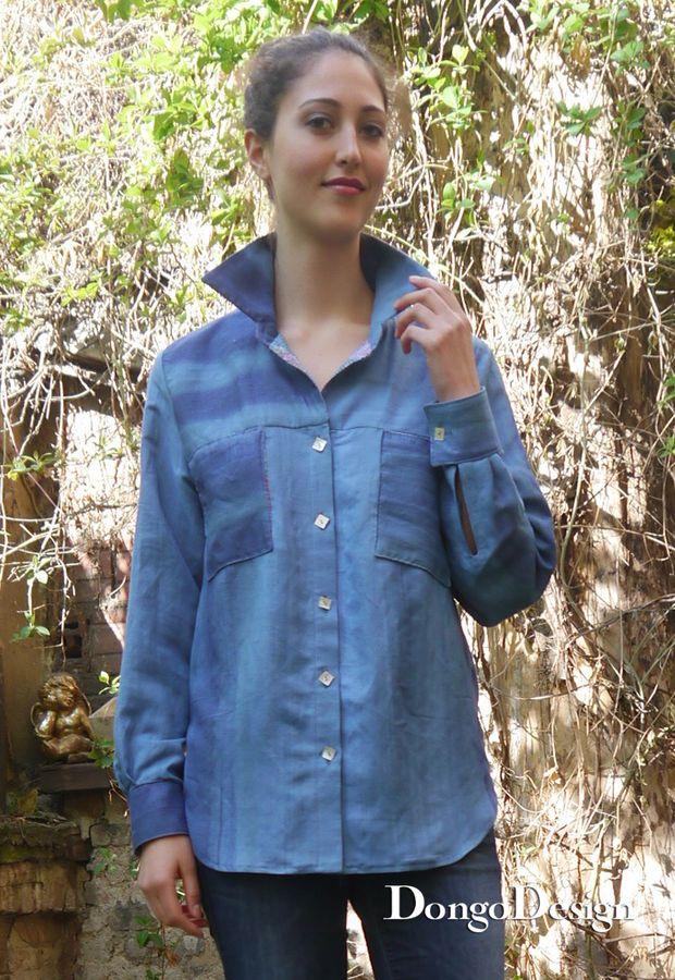 Produktfoto von DongoDesign für Schnittmuster Hemdbluse