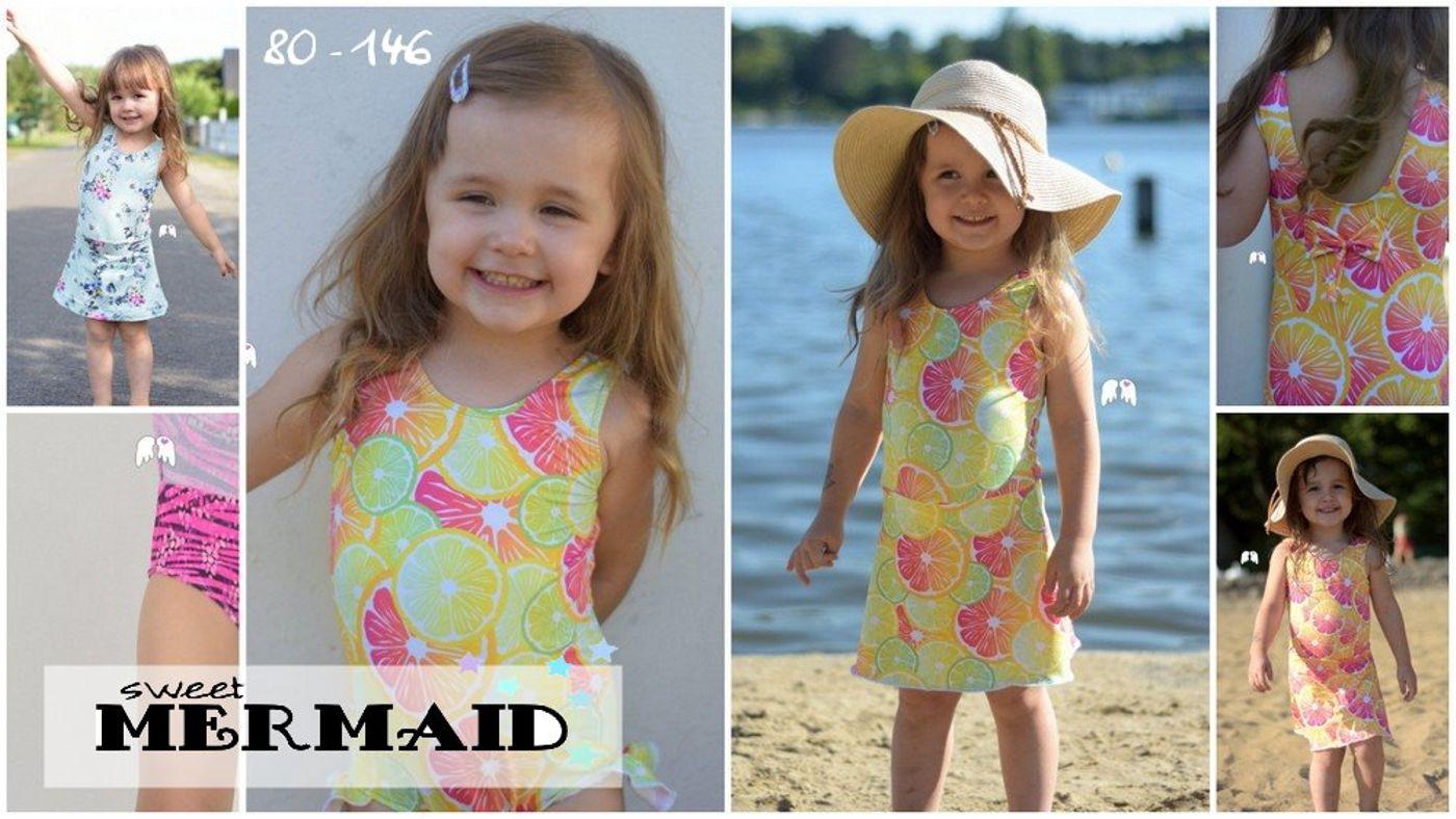 Produktfoto von Engelinchen für Schnittmuster Badeanzug/Badekleid Sweet Mermaid
