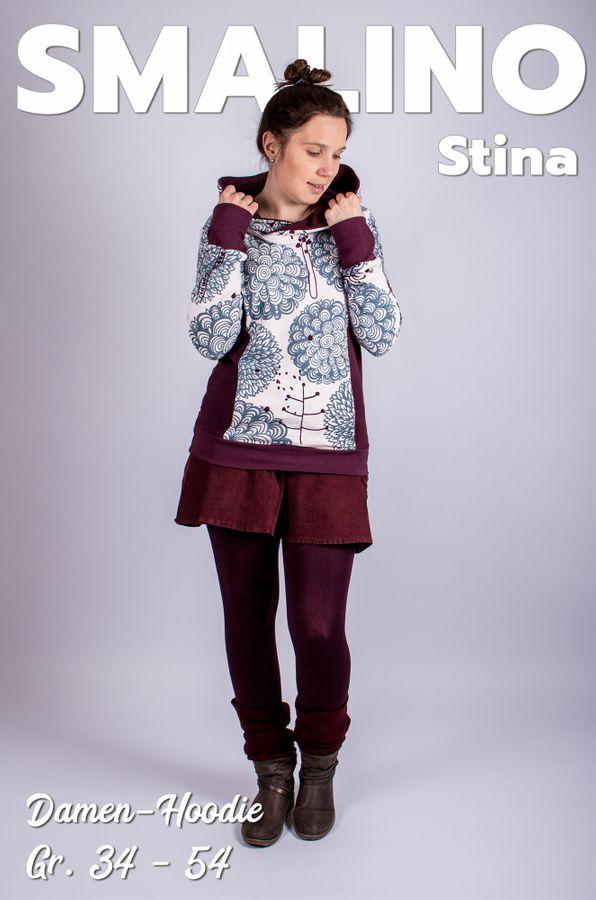 Produktfoto von Smalino für Schnittmuster Damen-Hoodie Stina