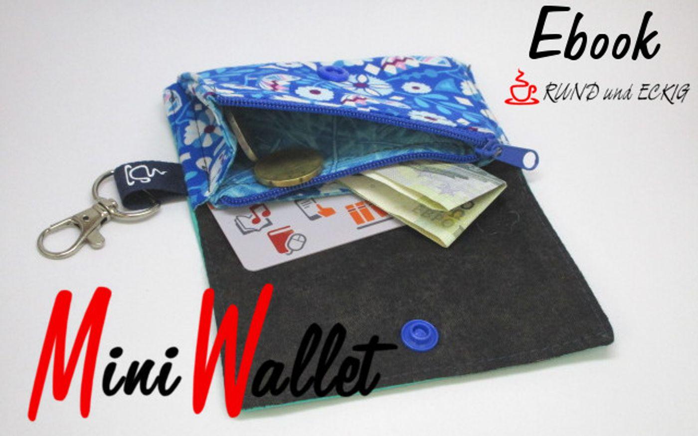 Produktfoto von RUND und ECKIG für Schnittmuster MiniWallet