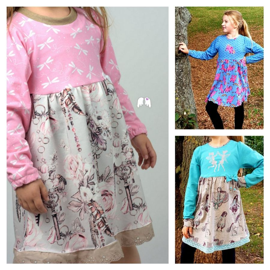 Produktfoto von Engelinchen für Schnittmuster Herbstkleid Karolina