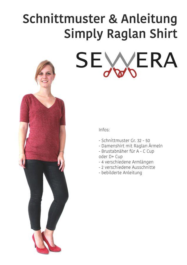 Produktfoto von sewera für Schnittmuster Simply Raglan Shirt