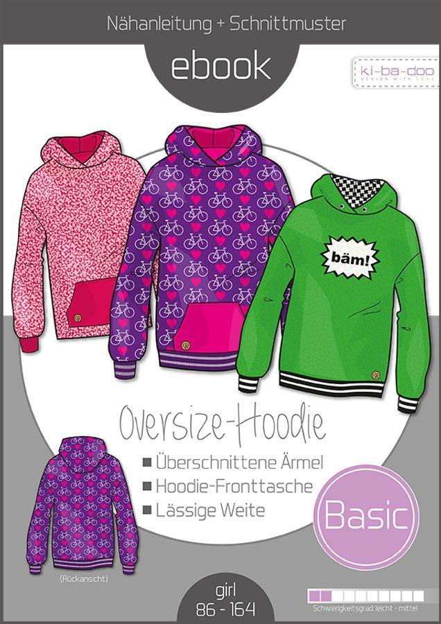 Produktfoto von ki-ba-doo für Schnittmuster Basic Oversize-Hoodie Kids