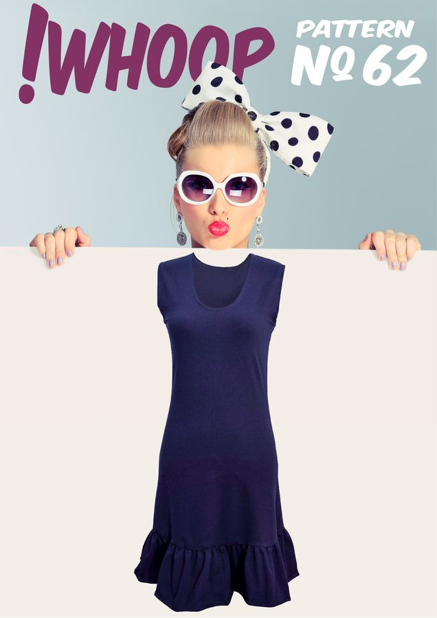 Produktfoto von !Whoop patterns für Schnittmuster # 62 Kleid mit Volant